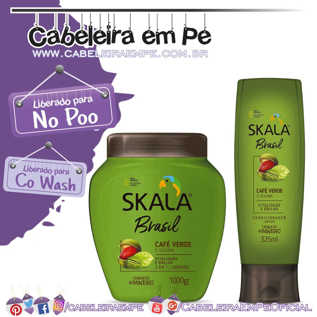 Condicionador e Café Verde e Ucuuba - Skala Brasil (No Poo e Co Wash)