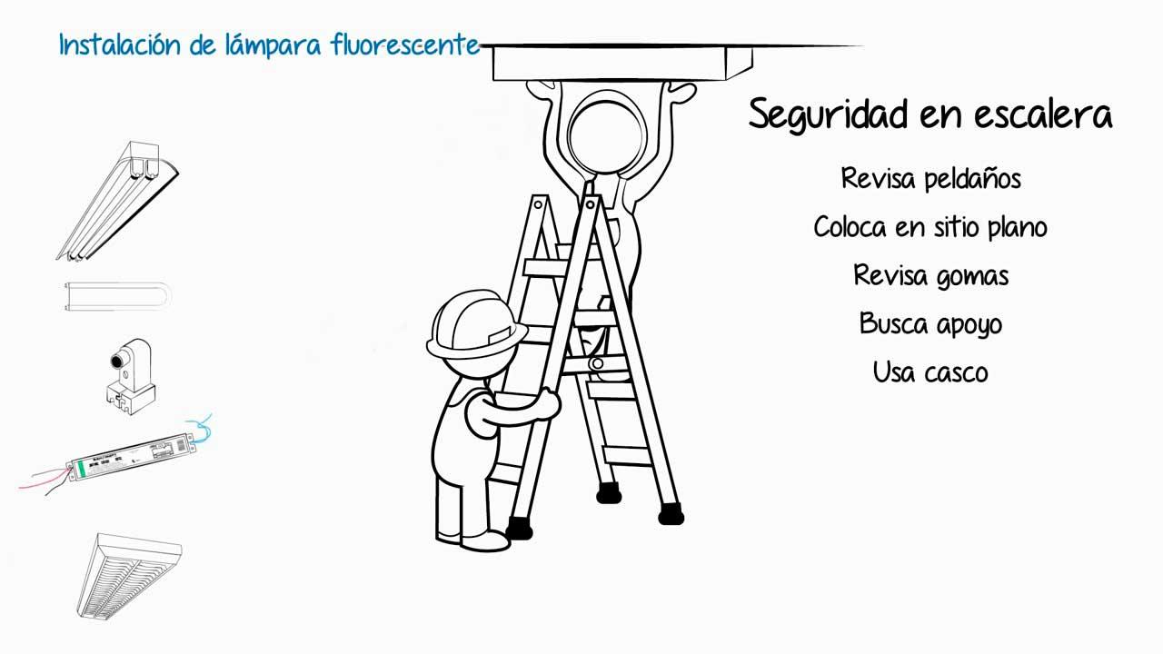 Instalaciones eléctricas residenciales - Seguridad durante el uso de la escalera