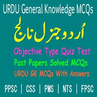 Solved Objective Type URDU MCQs With Answers