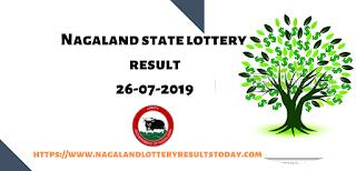 Nagaland State Lottery 26-07-2019