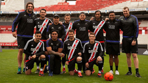 Los All Blacks entrenaron en River y confirmaron el equipo