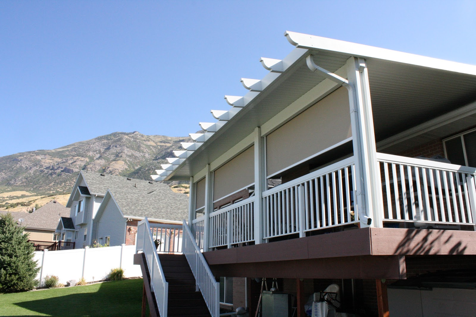 Metal Patio Awnings & Pergolas -- Aluminum Awnings