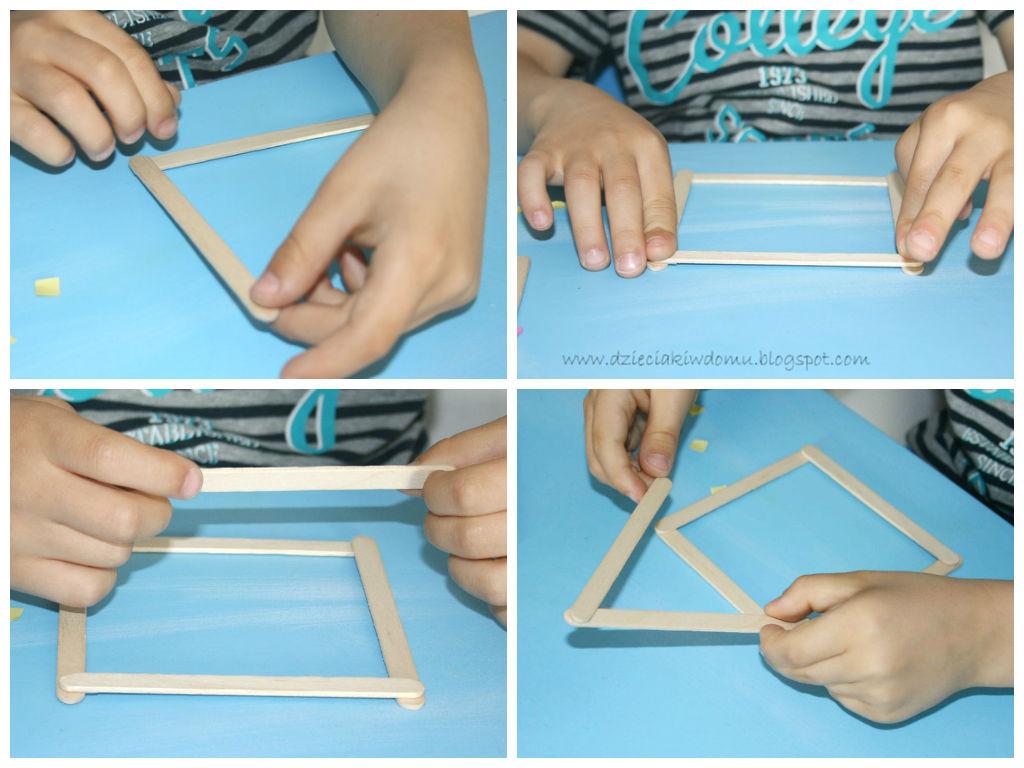 Domek z kreatywnych patyczków na Dzień Mamy - praca plastyczna dla dzieci