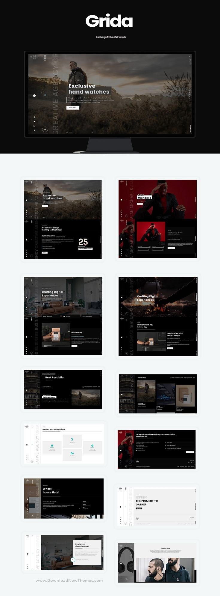 Creative Agency Ajax Portfolio and personal Bootstrap Template
