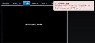 OctoPrint Camera Error