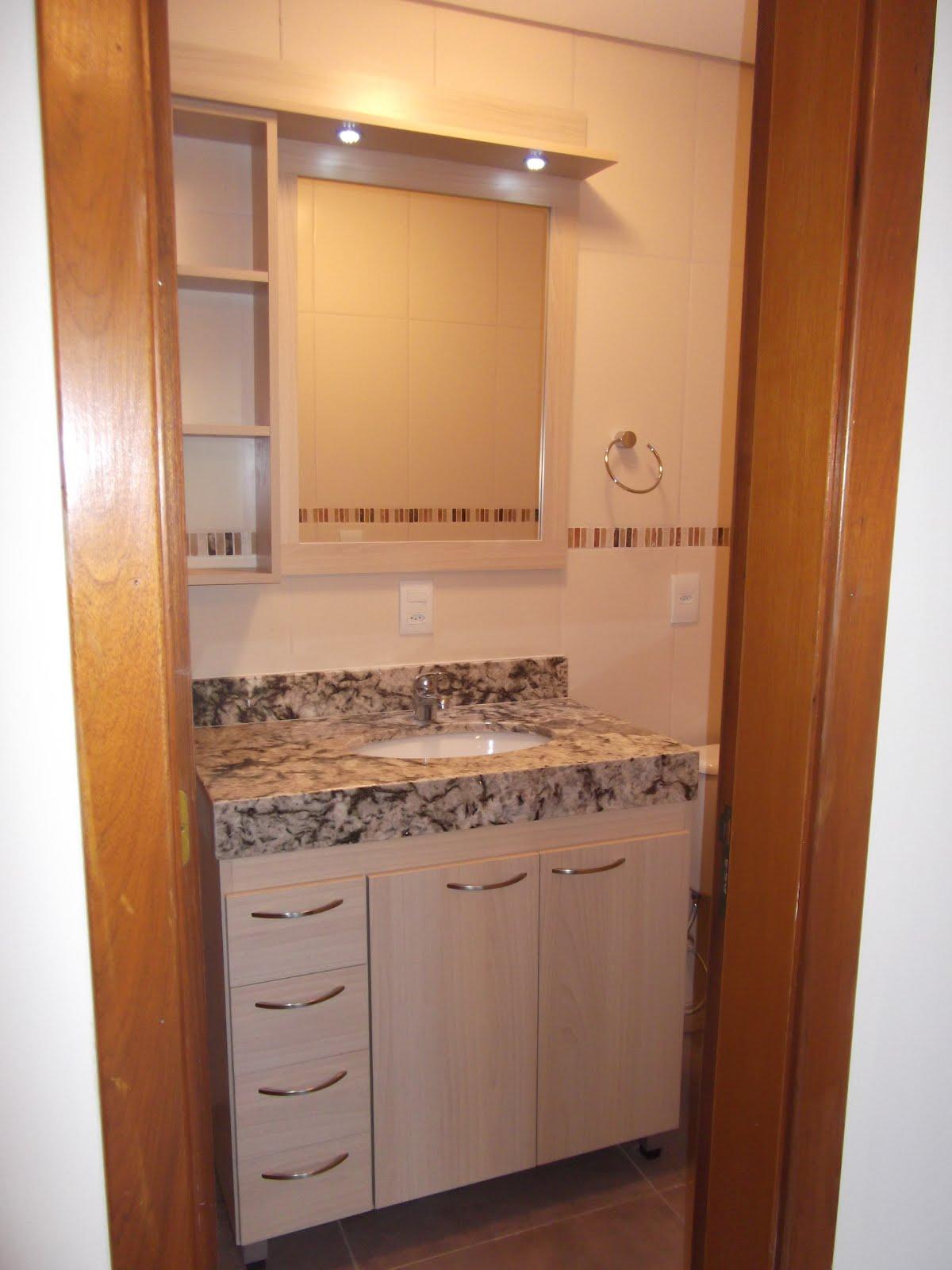 Móveis Borges Banheiros Em Mdf Lipari Champagne 18mm E Mdf