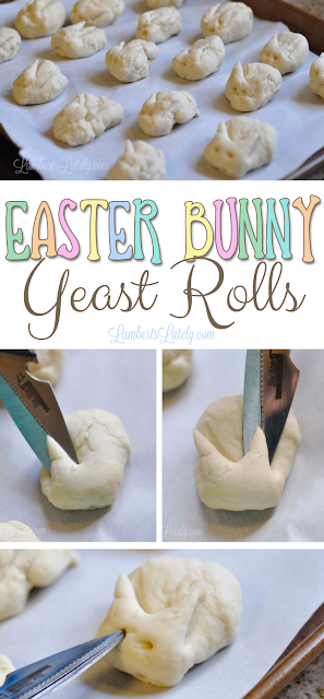 Easter Bunny Yeast Rolls - so cute!  Includes an easy recipe.