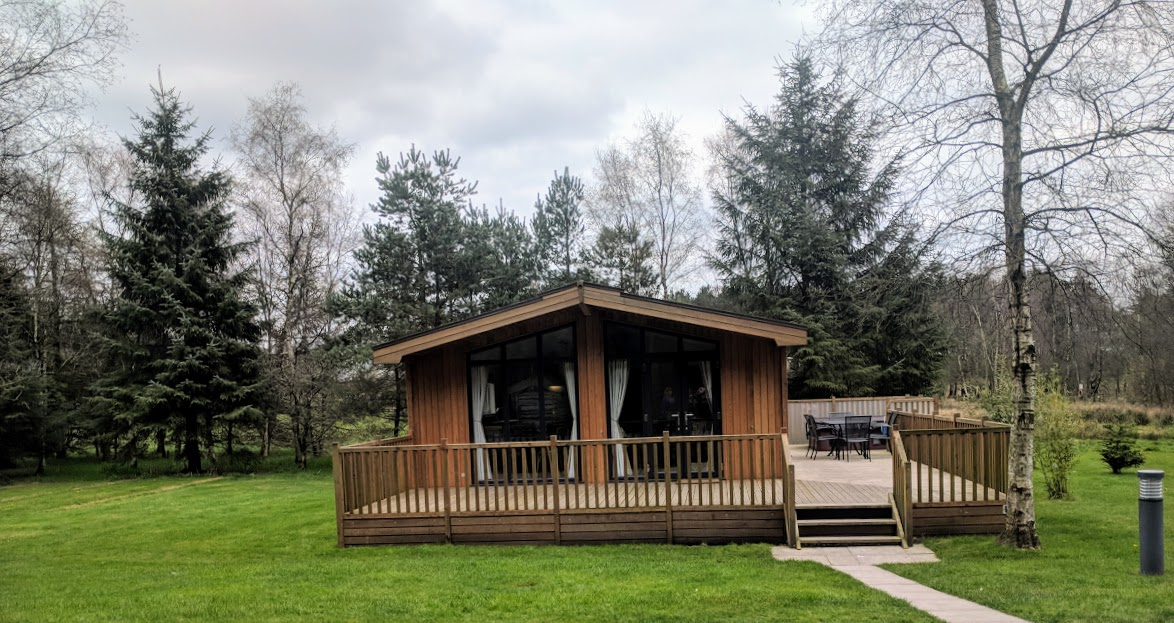 A Review of Darwin Forest & The Peak District with Tweens  - skyline view lodge in the meadows exterior