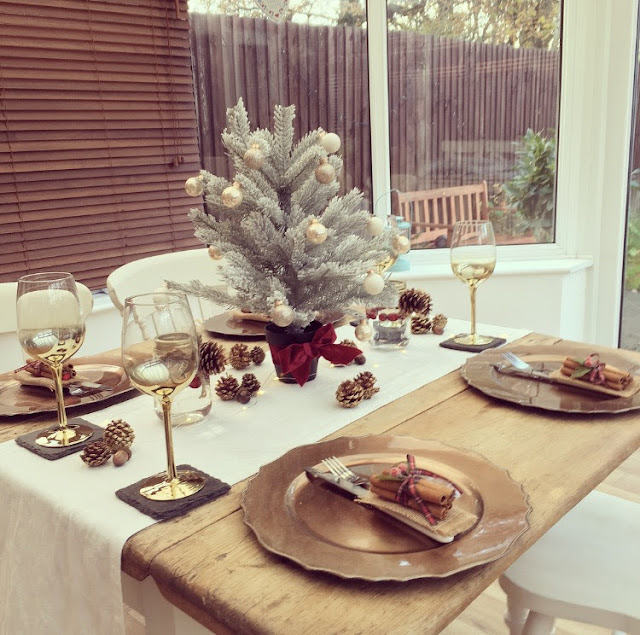 Style your dining table for Christmas lunch dinner on a tight budget