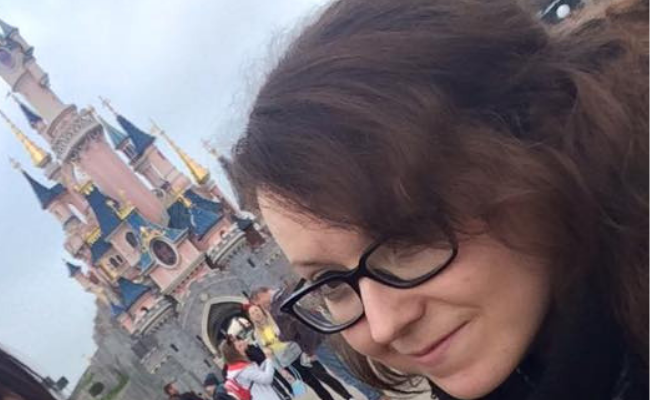 Me in front of castle at Disneyland Paris