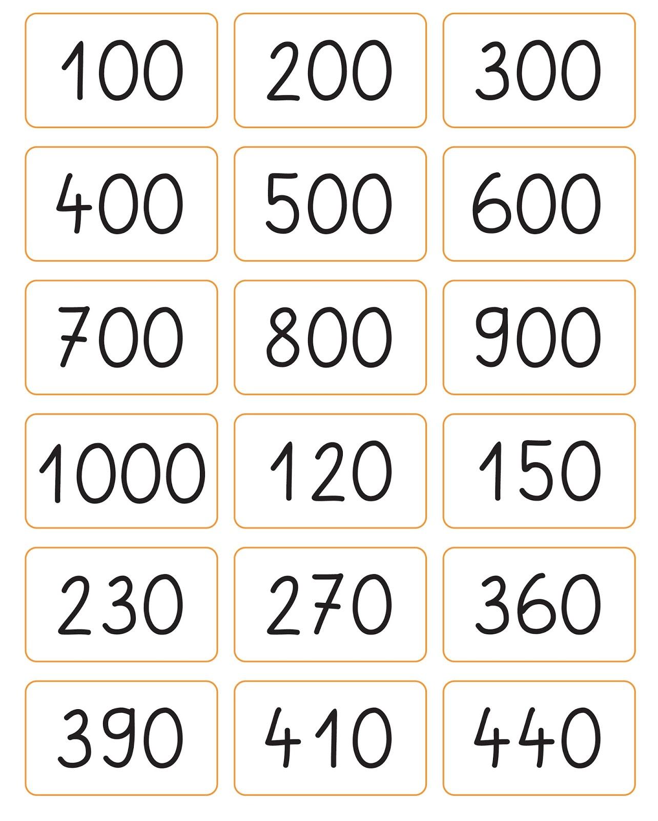 Lernstübchen: Hunderter- und Zehnerzahlen