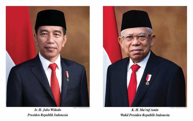 ukuran foto resmi presiden dan wakil presiden ri periode 2019-2024