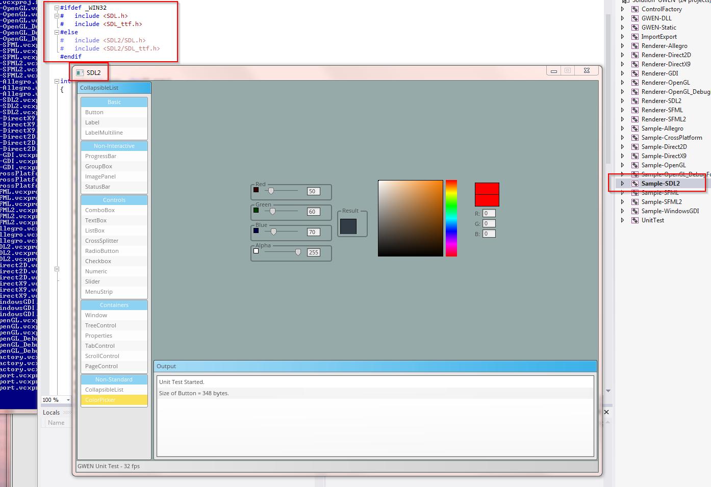 useless fragments: GWEN SDL2 GUI Renderer
