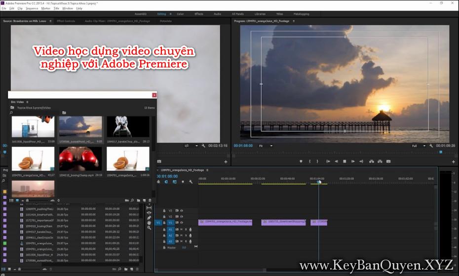 Video học dựng phim chuyên nghiệp với Adobe Premiere