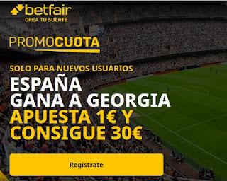 betfair promocuota España gana Georgia 28-3-2021