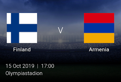 LIVE MATCH: Finland Vs Armenia UEFA Euro 2020 qualifiers 15/10/2019