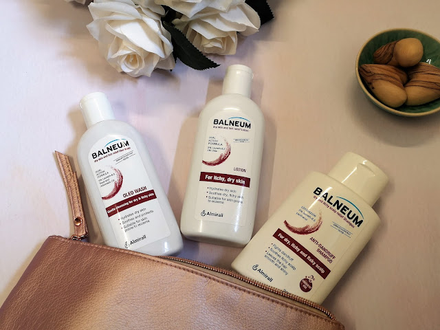 Balneum products in wash bag