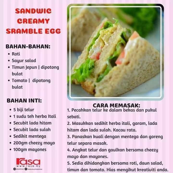 resepi roti sandwich bekal mudah dan sedap