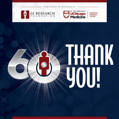 GI Research Foundation marks 60 years and raises over $1,000,000 to support the Digestive Diseases Center.