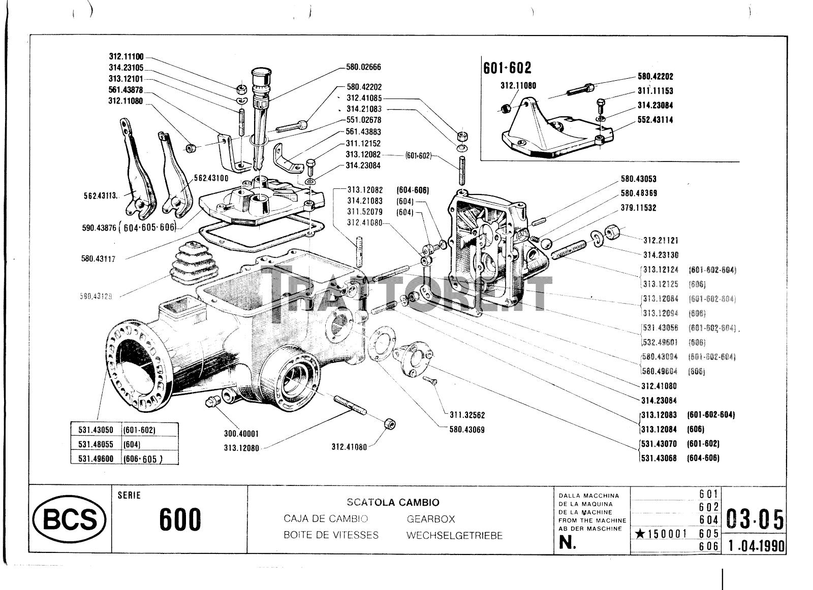 Motofalciatrice bcs 602