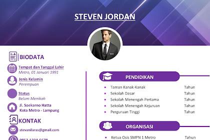 Download Desain CV Word  yang mudah di edit-Desain CV Kreatif.com