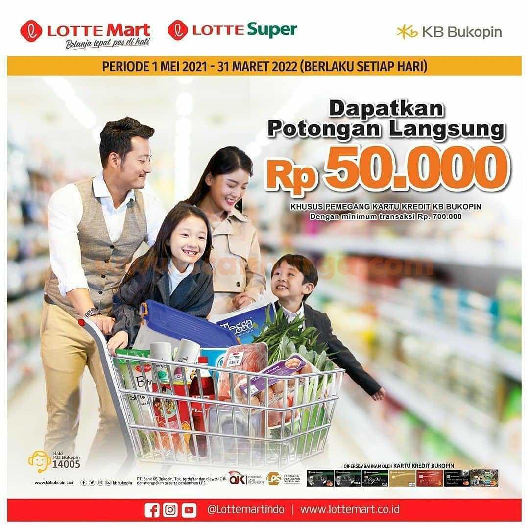 Promo Lottemart Potongan Rp. 50.000 dengan Kartu Kredit KB Bukopin