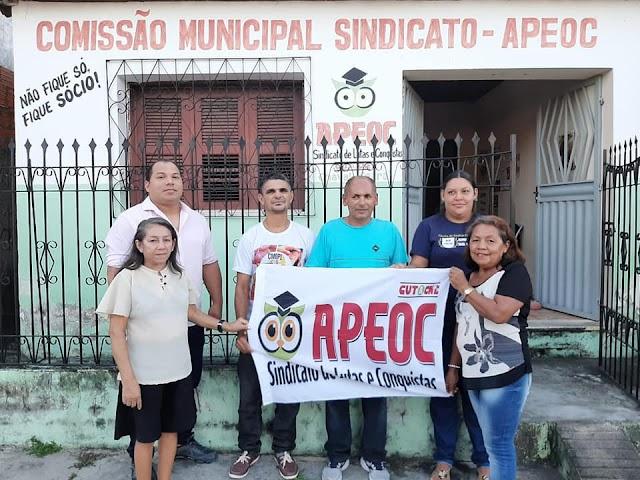 Professora Mocinha é reeleita para a presidência do Sindicato APEOC em Chaval