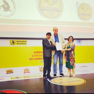 कर्मवीर चक्र से सम्मानित हुए डॉ सत्यम भास्कर