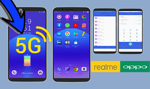 Tema Oppo Premium ColorOs 3, 5, 6, 7 dan 11 Serta Realme Gratis Support Signal 5G