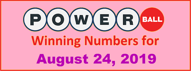 PowerBall Winning Numbers for Saturday, August 24, 2019