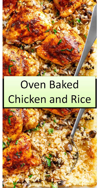 Oven Baked Chicken and Rice #Oven #Baked #Chicken and #Rice #OvenBakedChickenandRice