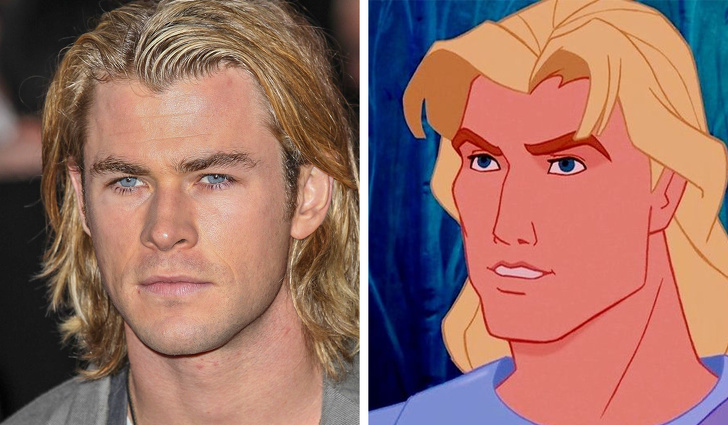The appearance of John Smith from Pocahontas was created thanks to Chris Hemsworth.