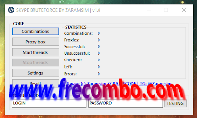 SKYPE BRUTEFORCE BY ZARAMSIM \\ RAMSCODE | v1.0