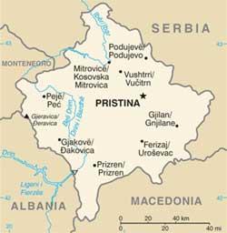 Mapa do kosovo