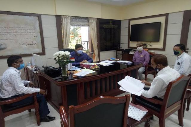 Gorkha Autonomous Council Demand Committee delegation meeting Chief Secretary of Government of Assam