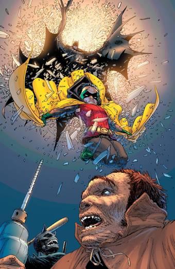 Batman (Dick Grayson) y Robin (Damian Wayne) por Frank Quitely