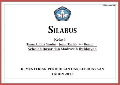 Contoh Silabus dan RPP Kurikulum 2013 Untuk SD
