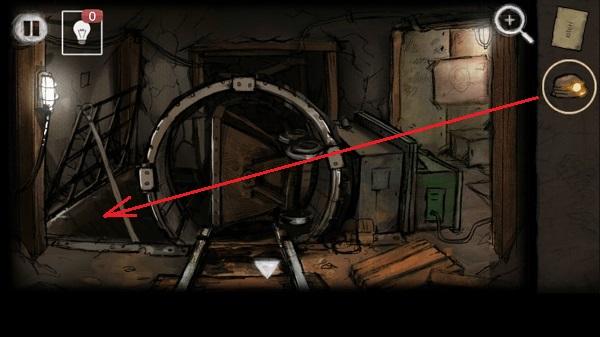 шланг к решетки привязать, одеть каску и выход вниз в игре выход из заброшенной шахты