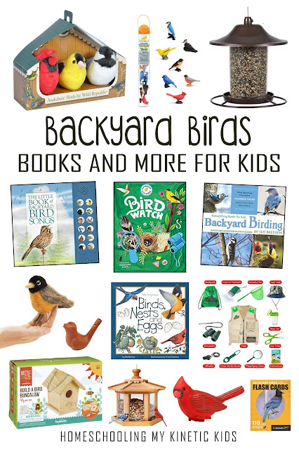 Books, toys, and more for learning about backyard birds.  Great for junior birdwatchers and wild-hearted kids.