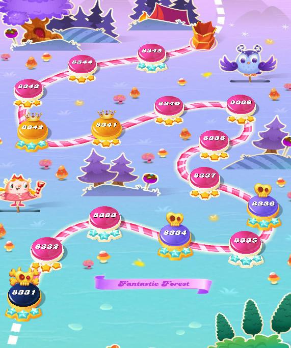 Candy Crush Saga level 8331-8345