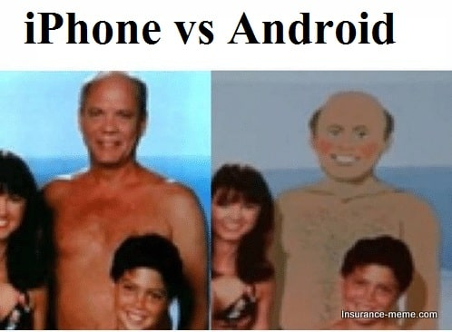 iphone android relationship meme