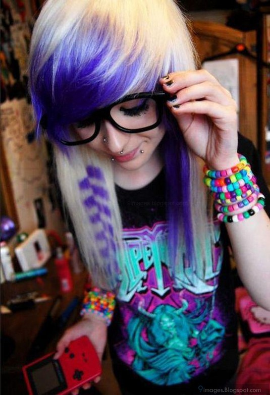 Emo Girl Cute Glasses Bracelets Piercing