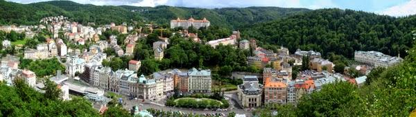 Vista Panorámica de Karlovy Vary, República Checa