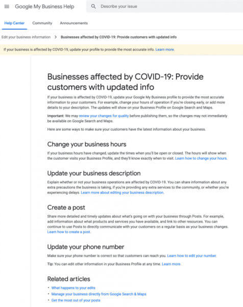Google Allows Business Owners to Add Updates on Google Search, Maps if Affected by Coronavirus