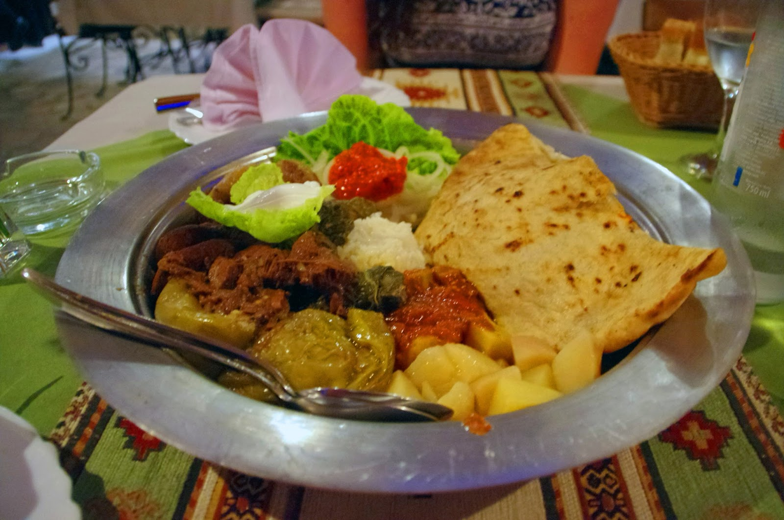 Traditional Bosnian cuisine in Mostar