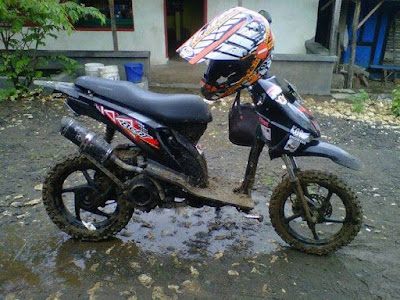 Modif Beat FI Hitam Trail Simple