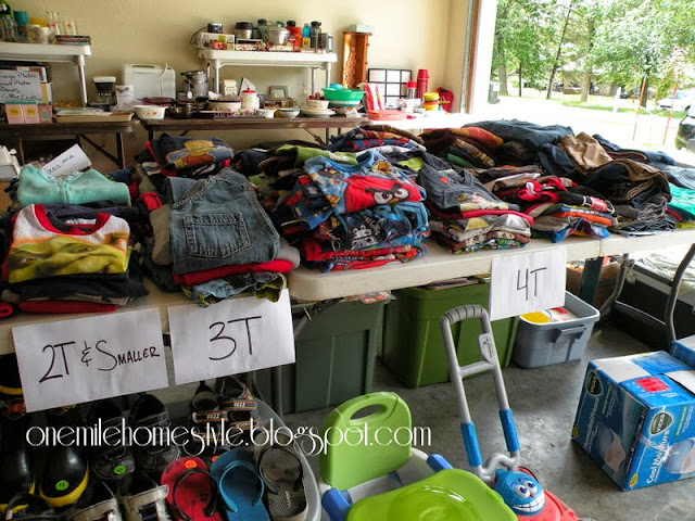 One Mile Home Style Garage Sale Tips