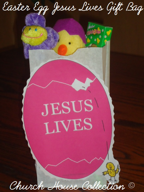 Church House Collection Blog Easter Egg Jesus Lives Gift Bag For Kids