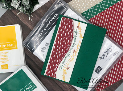 Rick Adkins Independent Stampin' Up! Demonstrator - Curvy Christmas Card Video Tutorial Click to learn more about the new products from Stampin' Up! and how to create this card using the Curvy Christmas Stamp Set!
