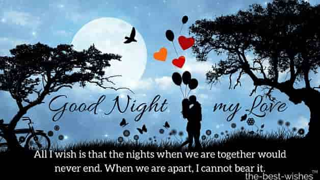 good night message to my love